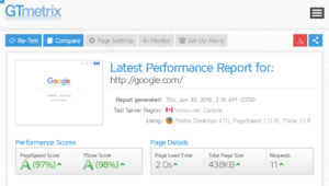Website Analysis Tools : Report